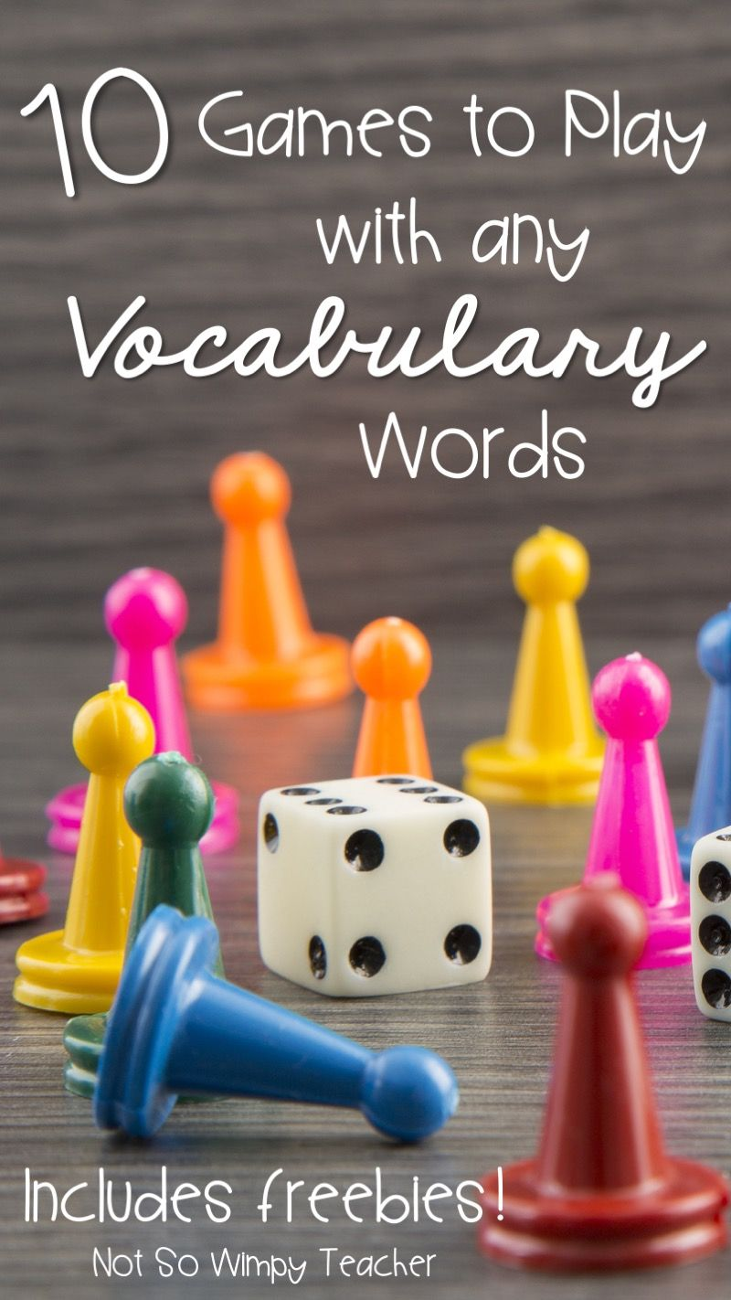 10 Games to Play with any Vocabulary Words | Student motivation ...