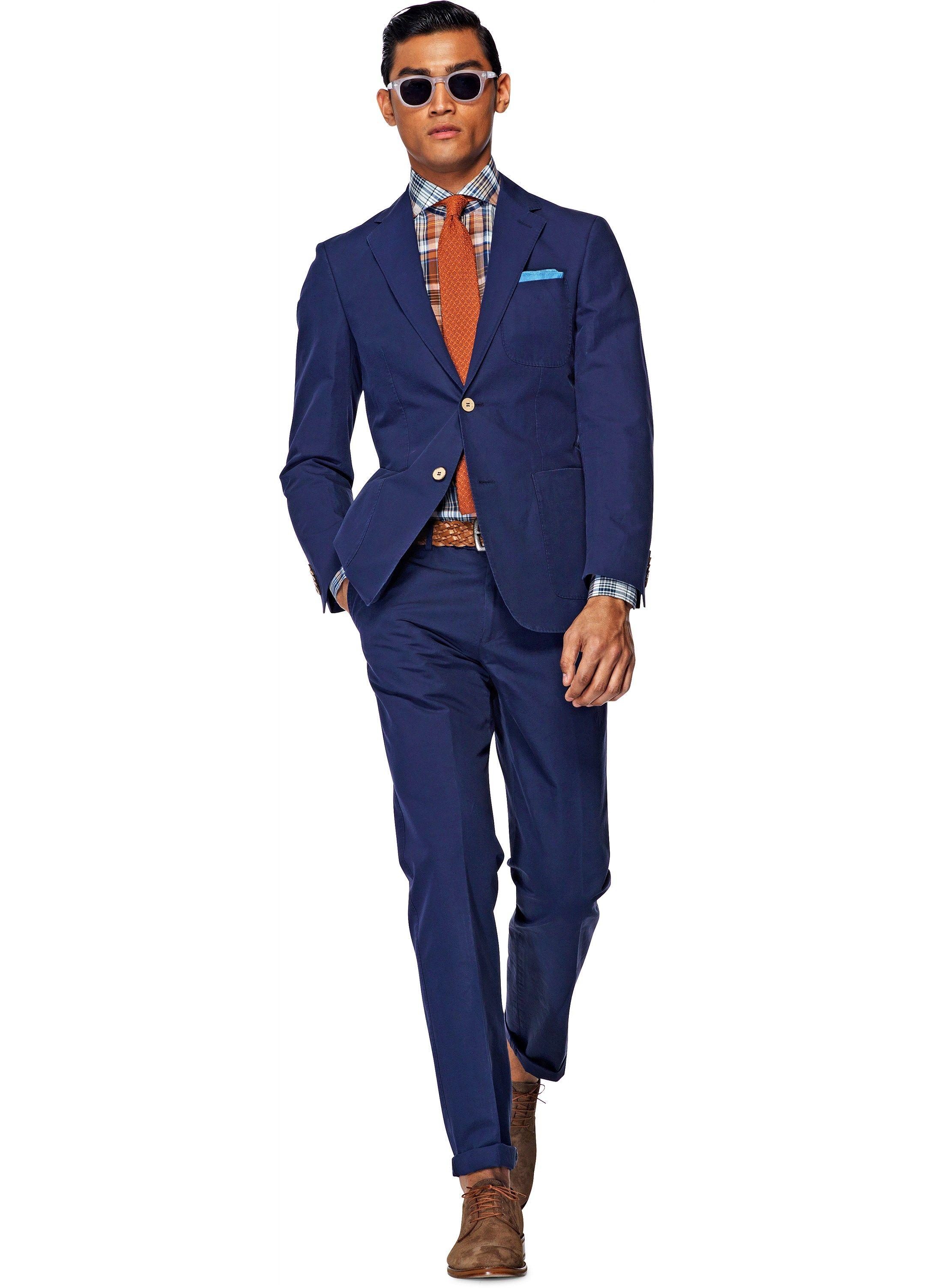 copenhagen blue plain suit p3800i
