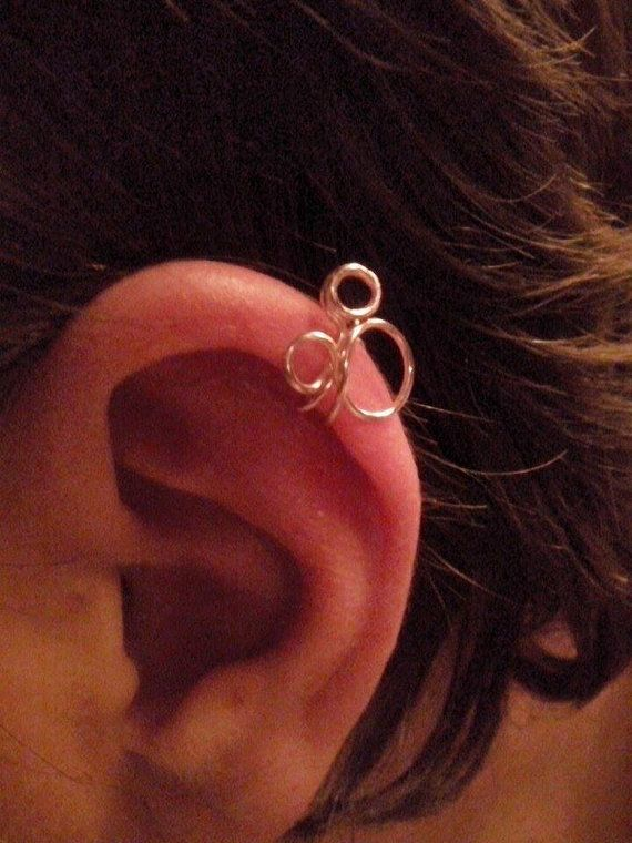 a47a92f97 Mickey Mouse Cartilage Ear Cuff Handcrafted Wire by ARTDanna Cartilage  Piercings, Cartilage Earrings, Cuff