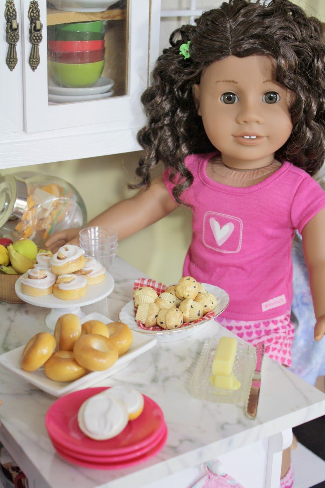 Pippaloo For Dolls American Girl Doll Food Mini Blueberry Muffins Doll Food