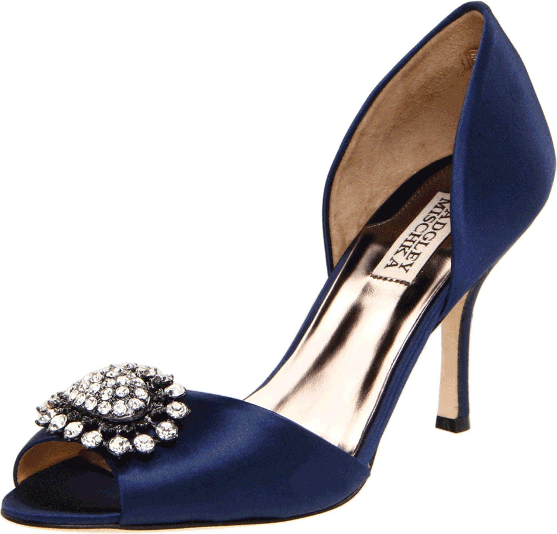 Badgley Mischka Lacie Damen Blau Textile Pumps Schuhe EU 38 | schuhe ...