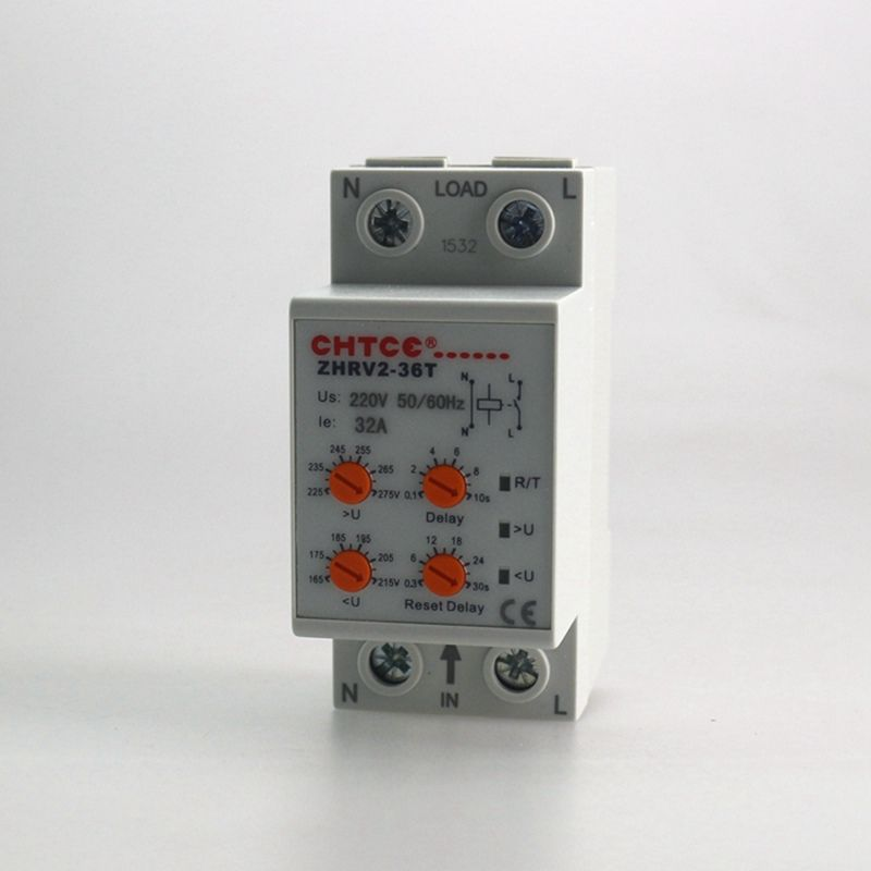 Household Self Resetting Over And Under Voltage Protection Relay 32a Zpv36 T Relay Cool Things To Buy Protection