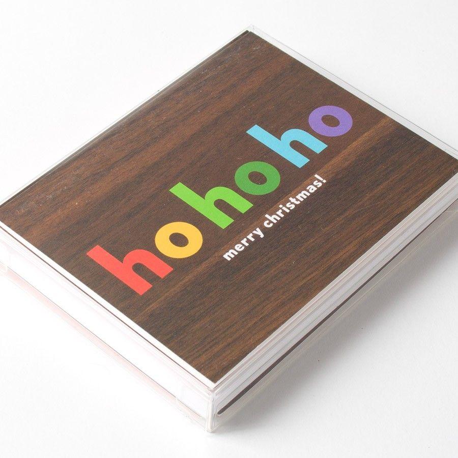 Ho Ho Ho Rainbow Boxed Cards by Night Owl Paper