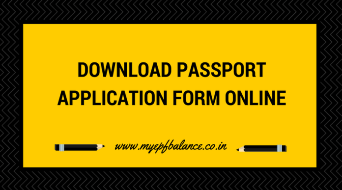 Learn To Download Passport Application Form Pdf Online From Passport
