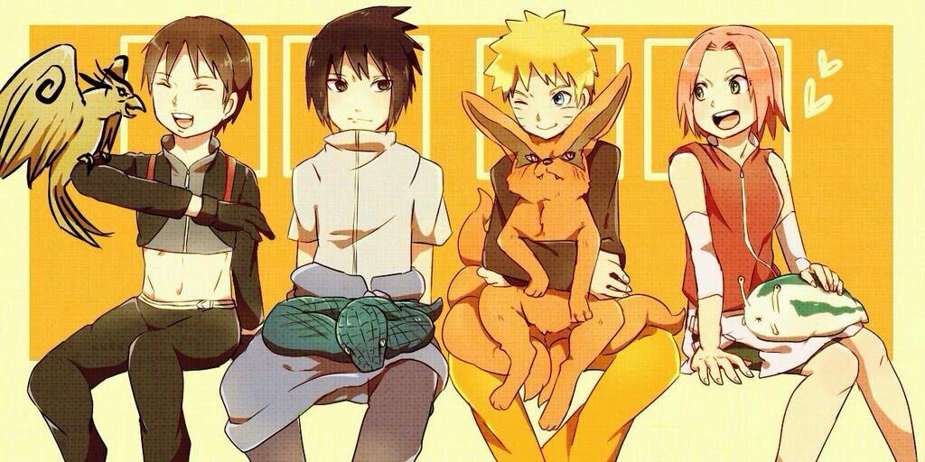 Sai, Sasuke, Naruto & Sakura