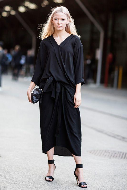 春夏全黑打扮,成為街頭型人