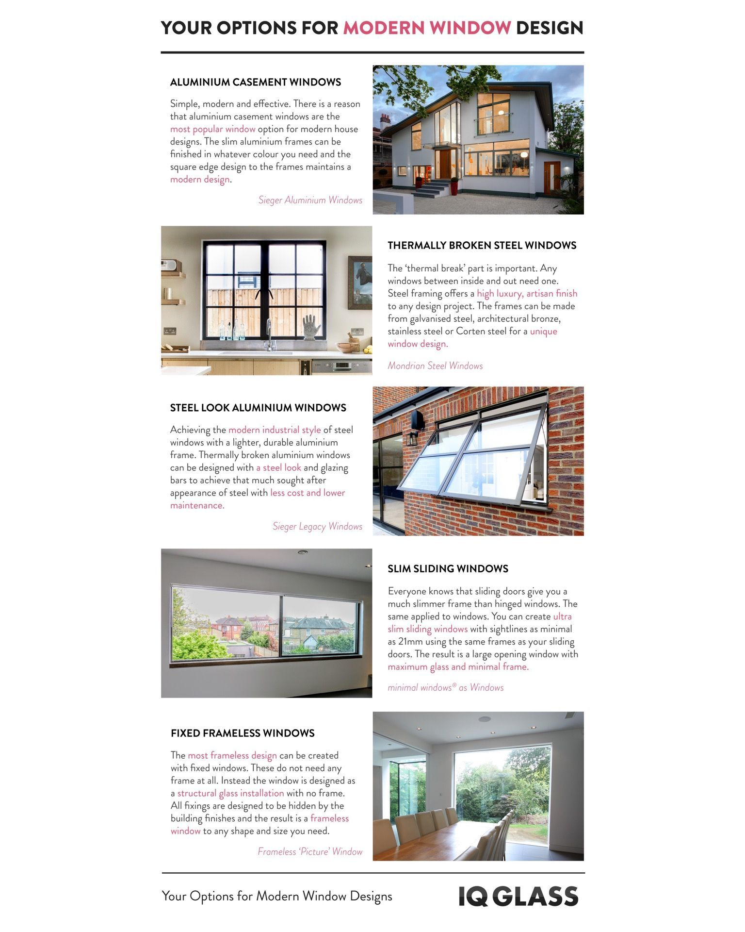 Options For Specifying A Modern Window System Modern Windows Modern Window Design House Styles