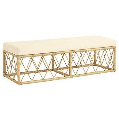 Fabulous Suzanne Kasler Southport Rattan Bench Washington Post 3 Lamtechconsult Wood Chair Design Ideas Lamtechconsultcom