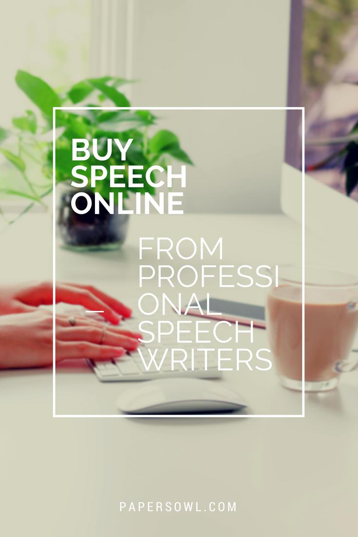Buying speeches online