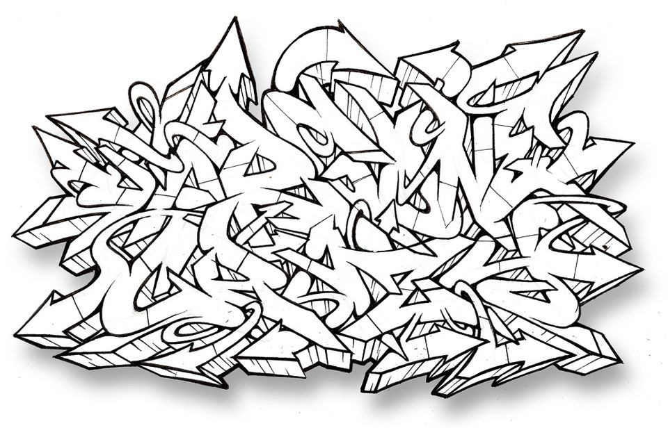 Graffiti Alphabet GAR Gone Crazy Letters