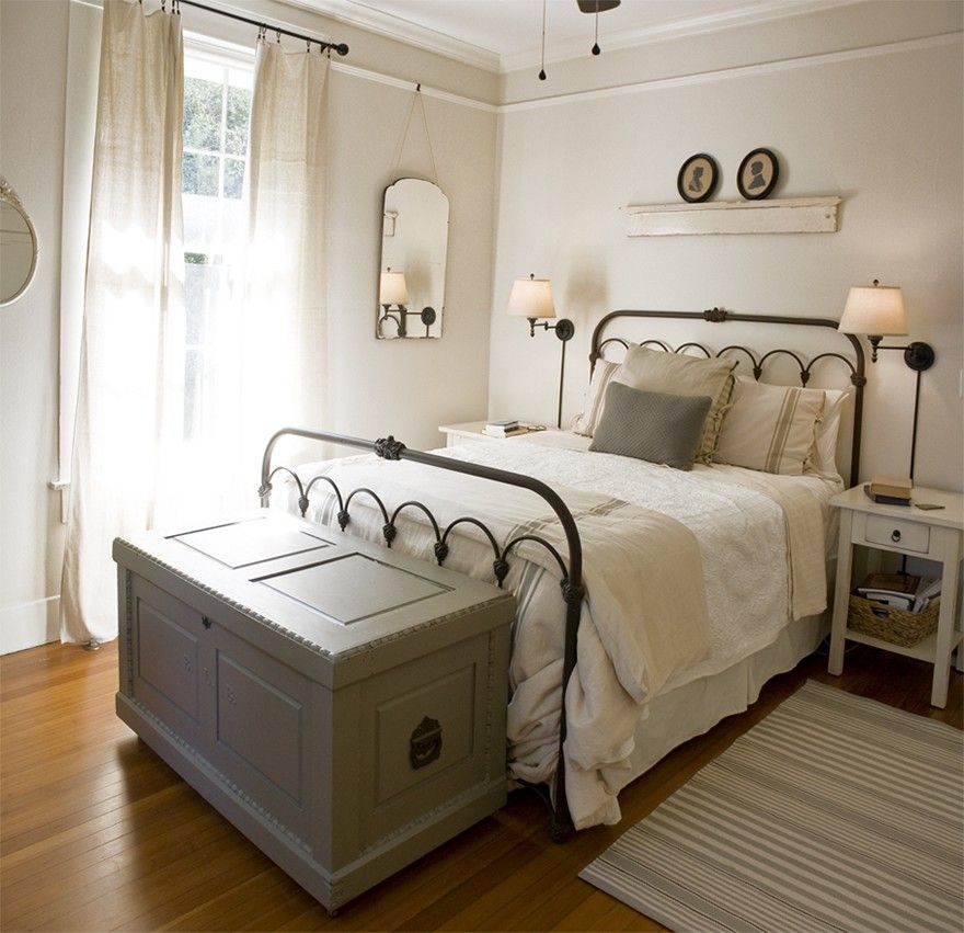 Country Cottage Bedrooms Model Property farmhouse charm : antique, furniture-style cabinets and a farm