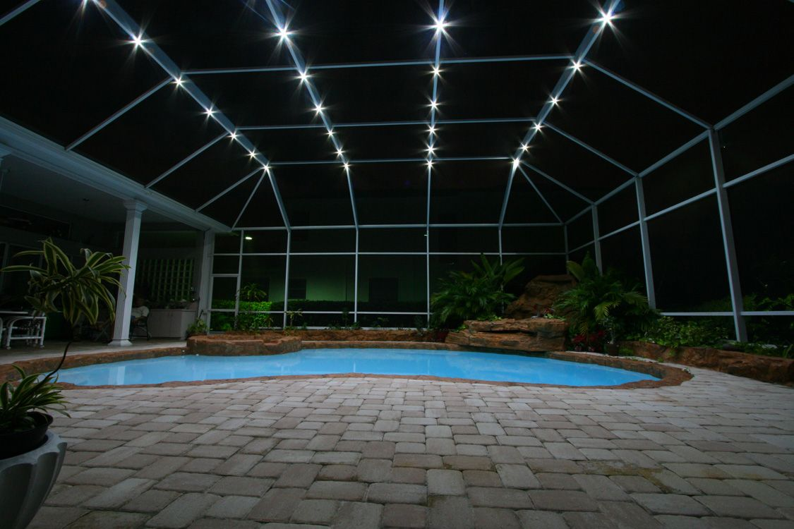 Nebula Lighting Systems Rail Light System Pool Cage