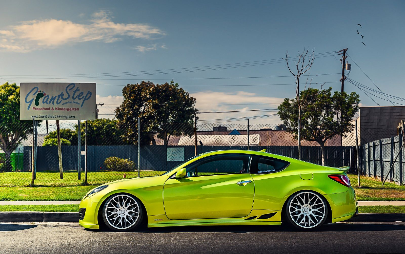 Hyundai genesis coupe stance tuning green