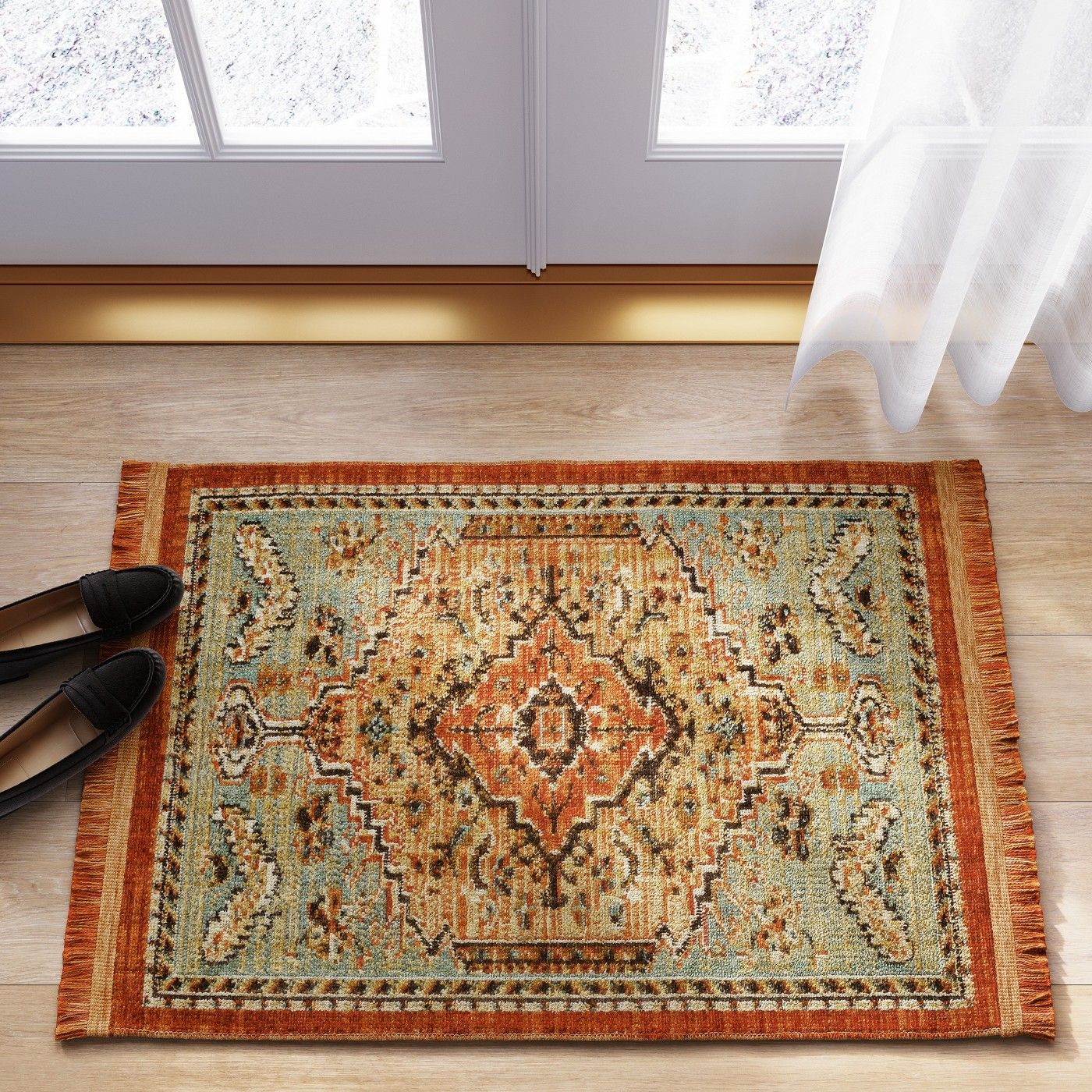 Floral Woven Accent Rug Threshold Rugs Accent Rugs Woven Rug