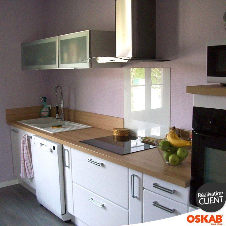 Bénédicte d a choisi oskab découvrez sa cuisine blanche et bois iris et retrouvez