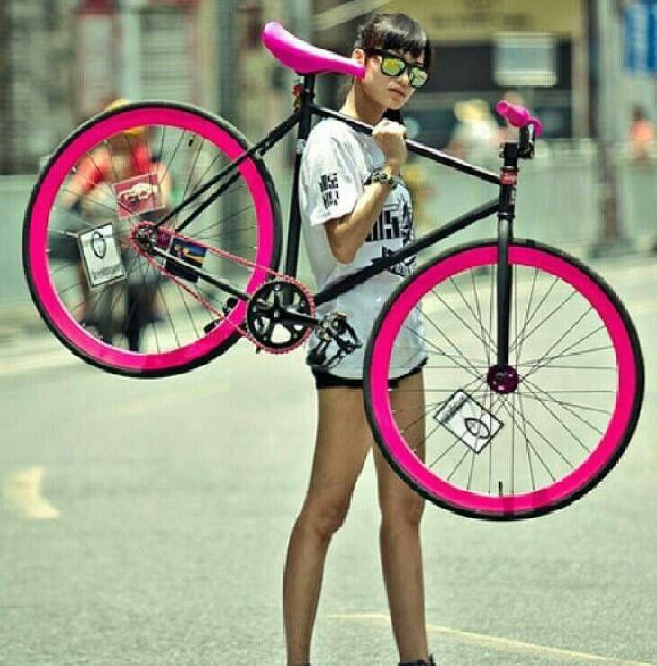 Hot Pink Bike Kb Bike Love It Bicycle Bicycle Girl Pink Bike