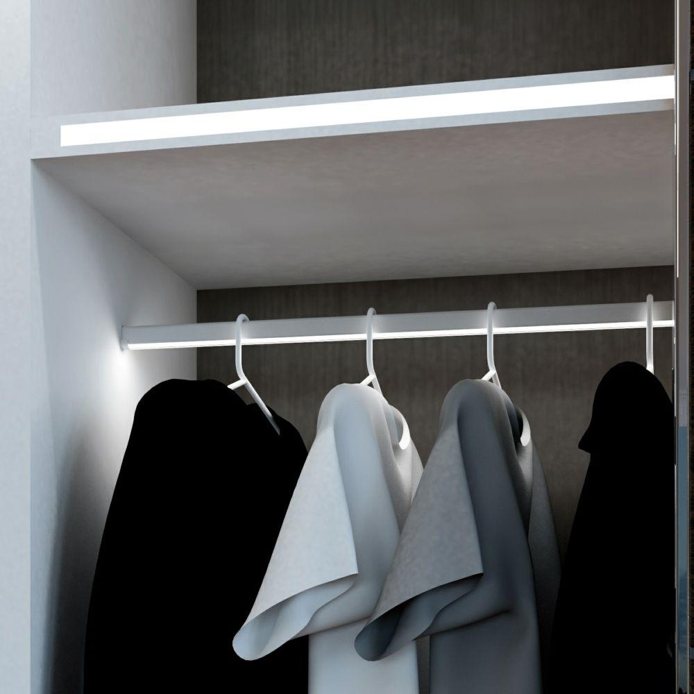 Linear Led Display Profiles Hanging Rail Hanging Rail Closet Lighting Wardrobe Lighting