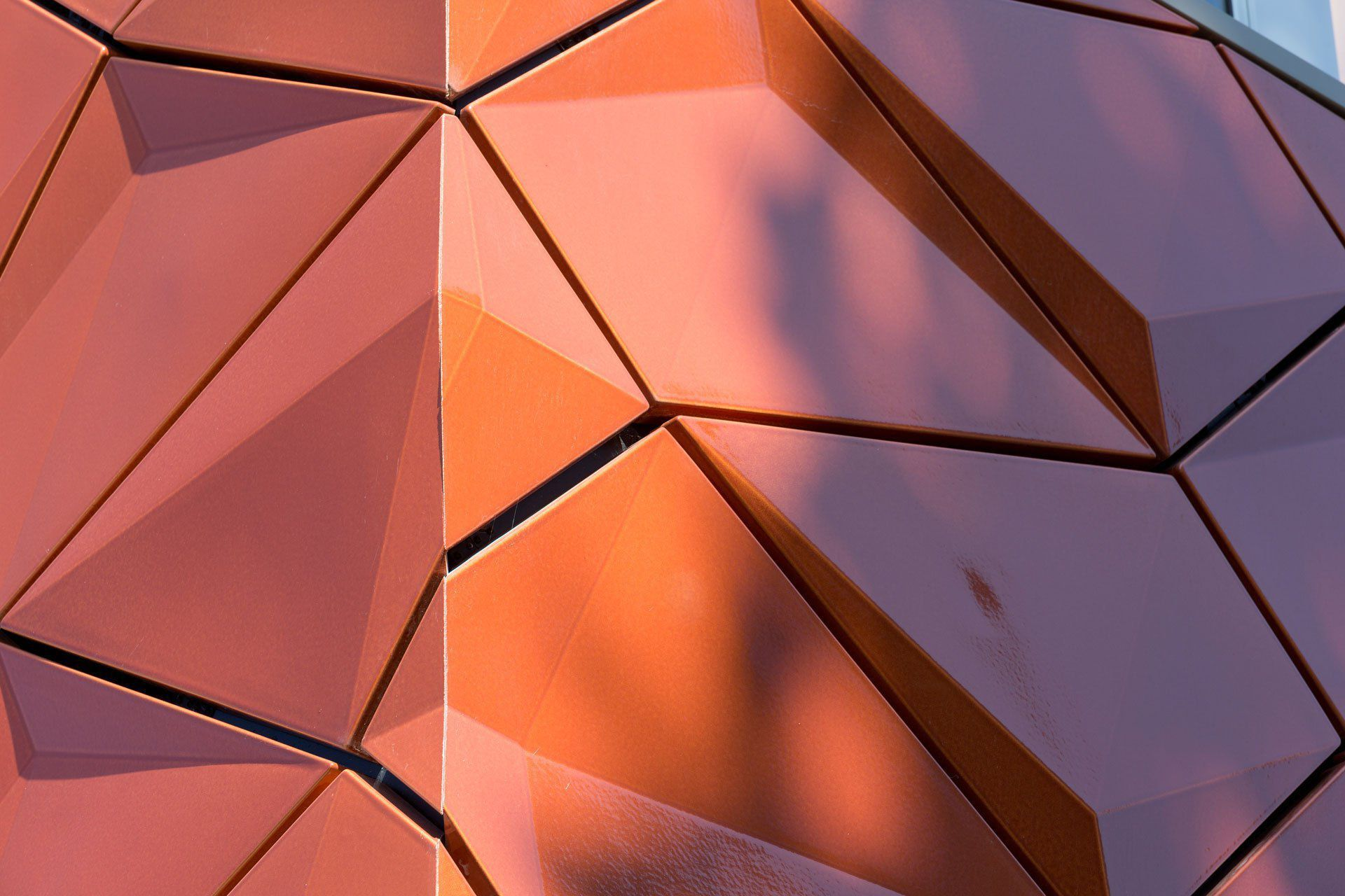Ceramic cladding / 3D / tile look / orange SENIOR