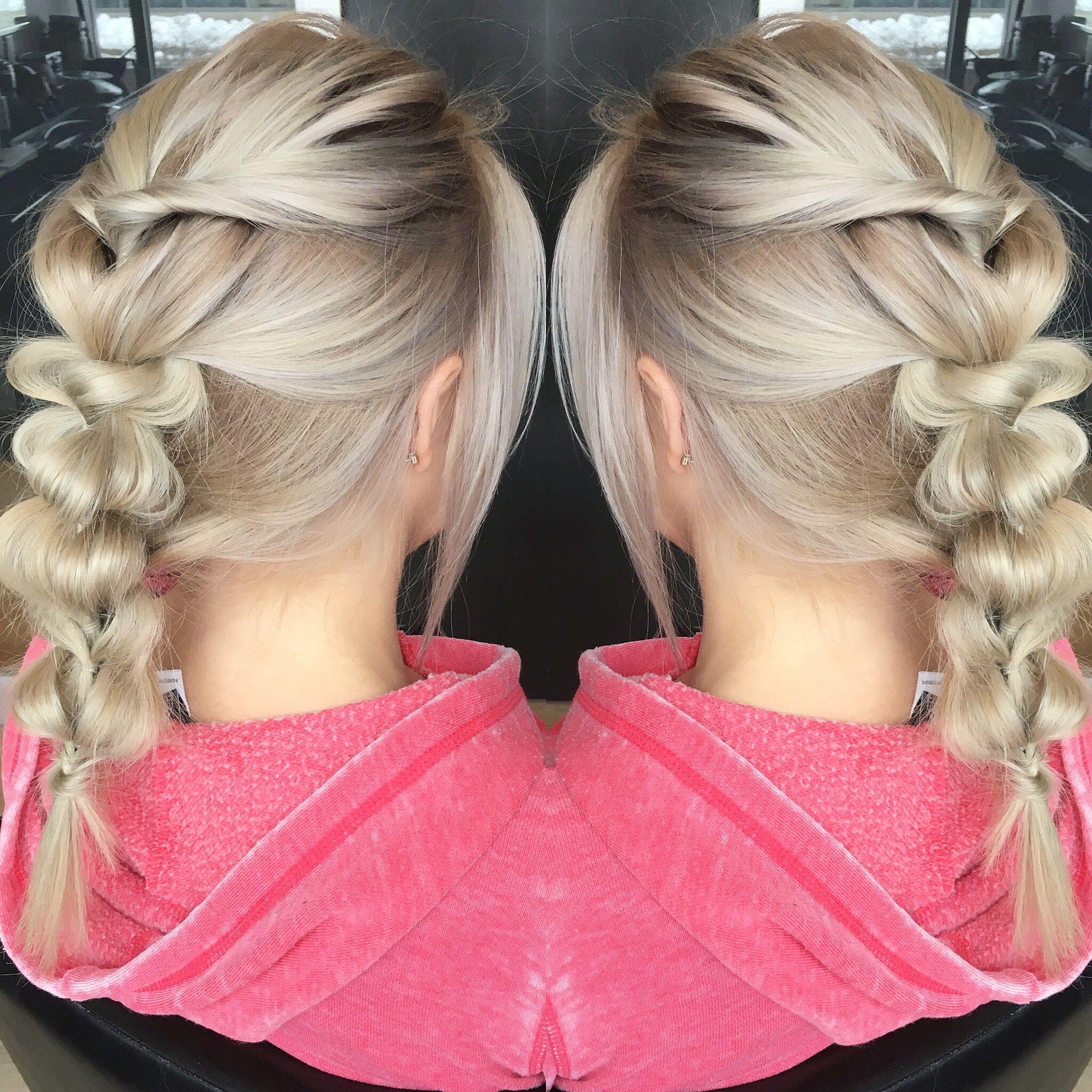 Blonde braided hair hair by jessica price pinterest blonde
