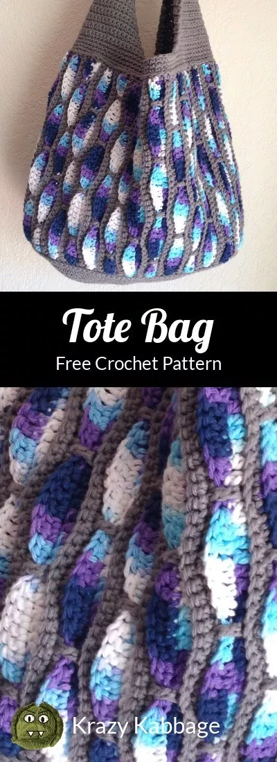 How to Crochet the Feather Storm Tote Bag – Krazy Kabbage #bags