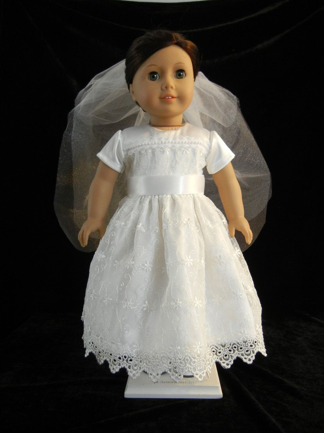 First Communion, Wedding, or Flower Girl Dress for 18 Inch