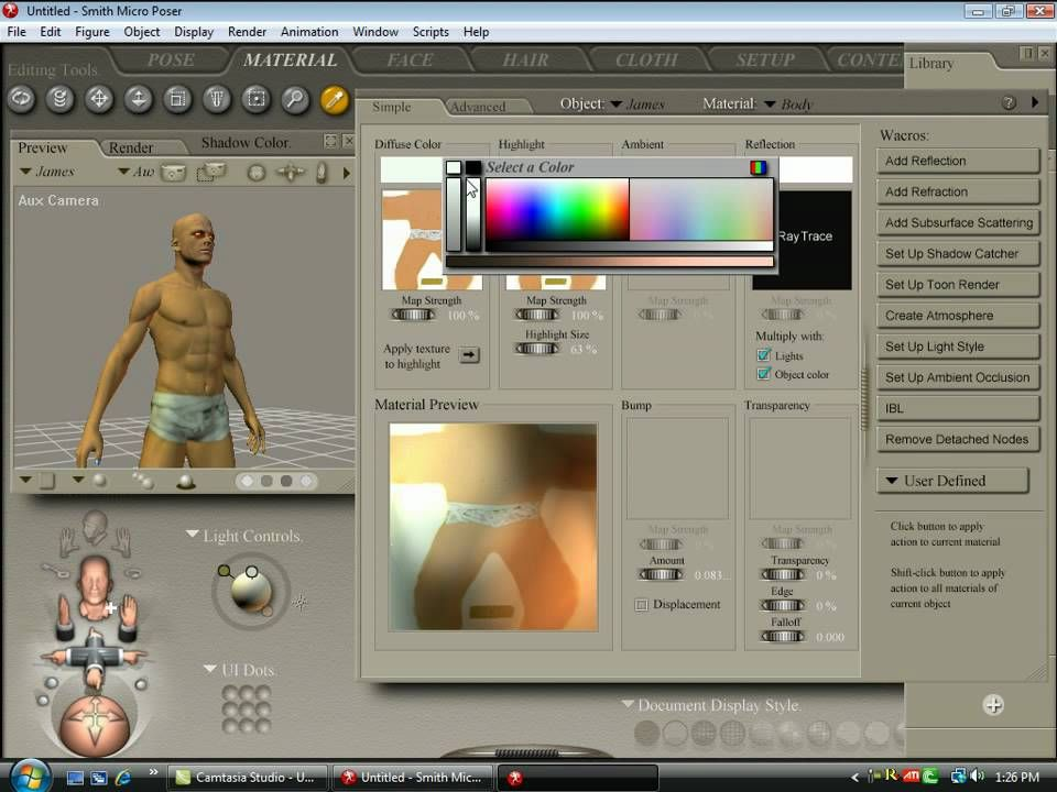 egpt god character in poser 7 | Smith Micro P  Program | Character