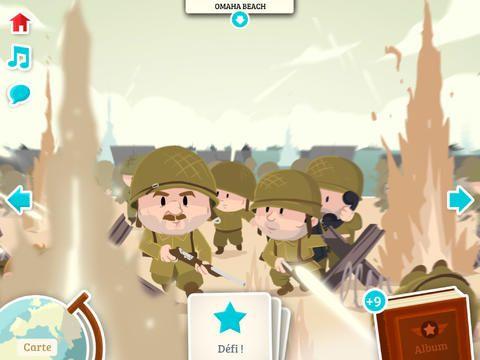 application histoire débarquement soldats