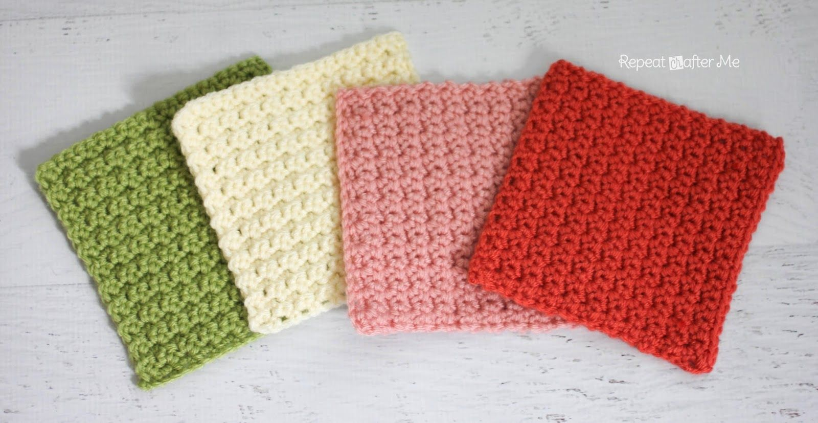 Solid Granny Square Crochet Pattern (Grit Stitch) (Repeat Crafter Me ...