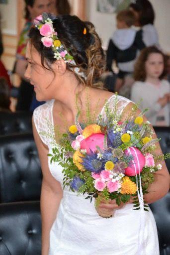 Couronne De Fleurs Mariage Champetre Creation Mat Et Lena Fleurs