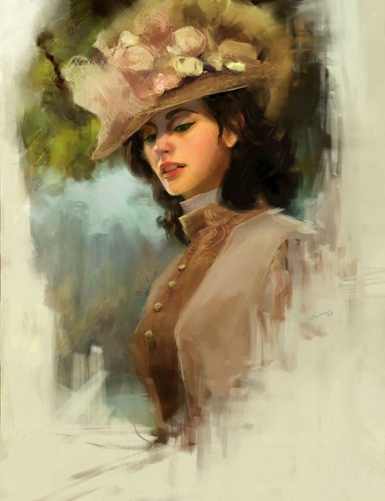 Vintage Paintings Of Women LÁMINAS VINTAG...