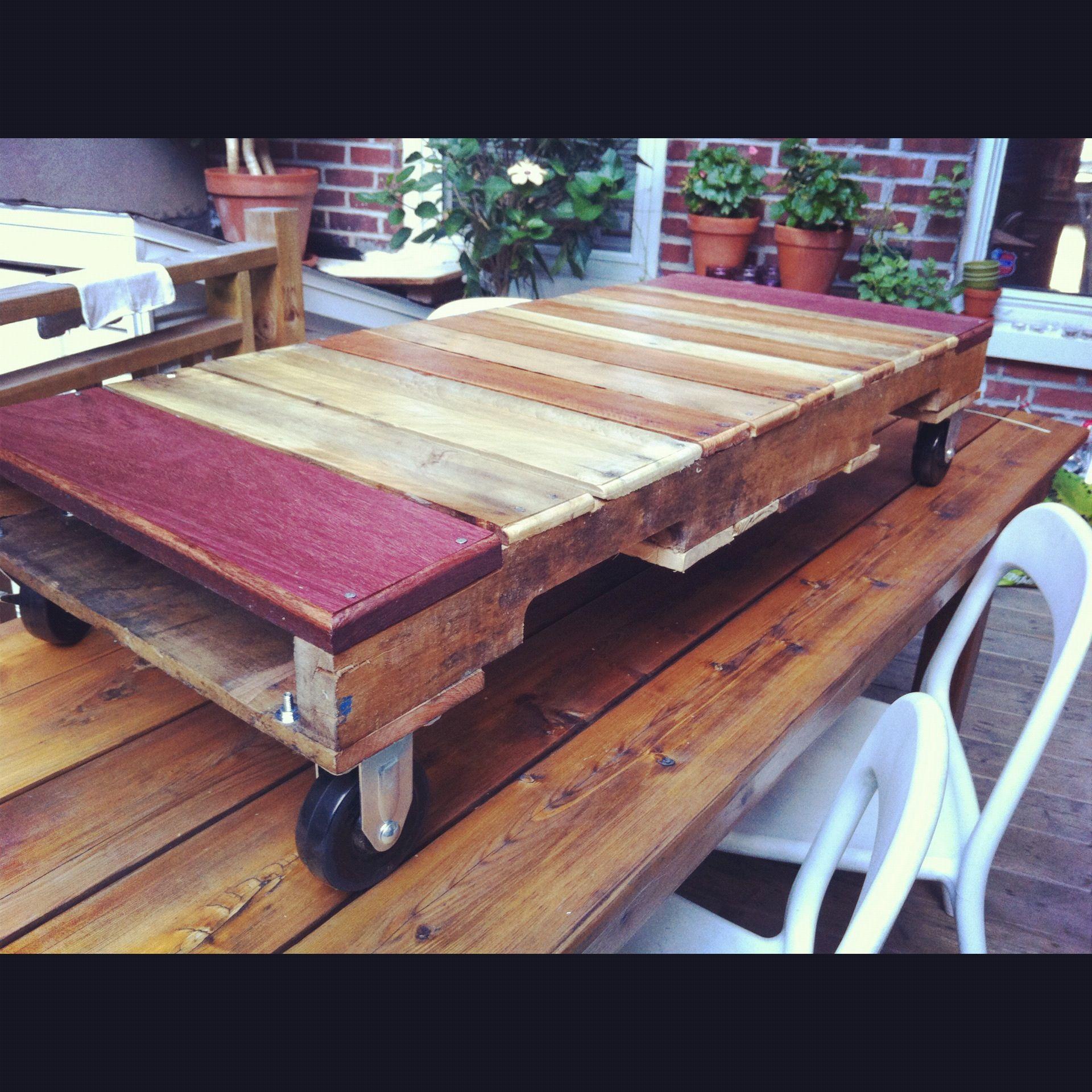 Pallet Coffee Table   Table café pour le petit salon de villeray