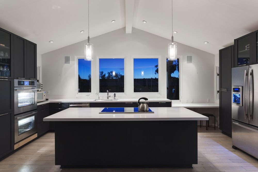 30 Custom Luxury Kitchen Designs That Cost More Than $100,000. Large  Kitchen Island ...