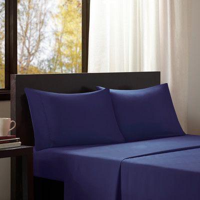Intelligent Design Intelligent Design Solid Sheet Set Size: Extra-Long Twin, Color: Blue