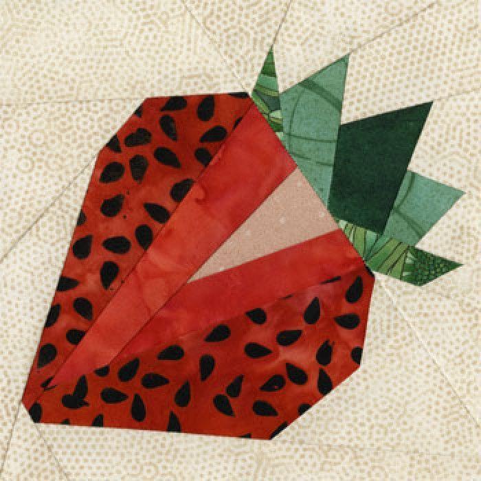 Strawberry Quilt Block Pattern   sewing   Pinterest   Nähen auf ...