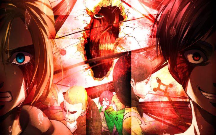 Annie Leonhart Eren Jaeger Attack On Titan Shingeki No Kyojin Anime