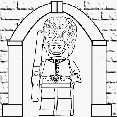 Lego Army Coloring Pages Images