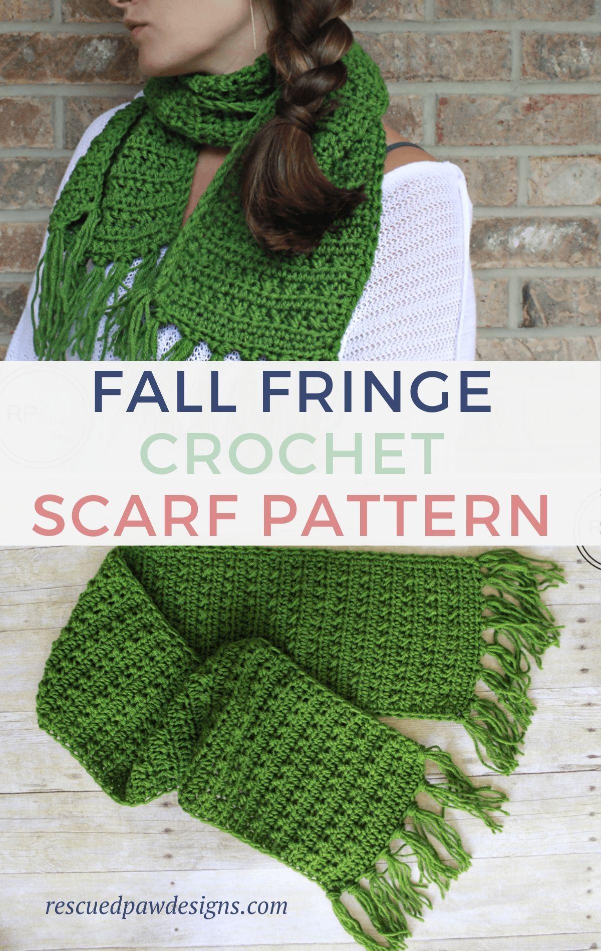 Fringe Scarf Crochet Pattern for Fall - EasyCroche