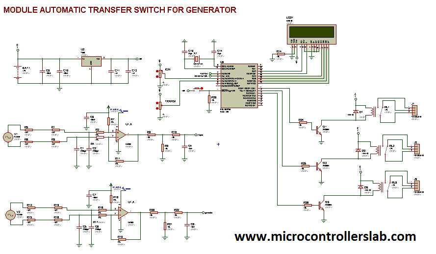 Transfer switch circuit diagrams collection of wiring diagram circuit diagram of automatic tranfer switch microcontrollers rh pinterest ca static transfer switch circuit diagram generator transfer switch circuit swarovskicordoba Images
