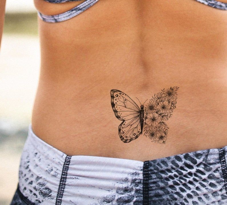 Butterfly Tattoo Fake Tattoo Black And White Butterflies Tattoo Girly Tattoo Big Tattoo Girl Temporary Tattoo By Temp Tat In 2020 White Butterfly Tattoo Butterfly Tattoo Butterfly Ankle Tattoos