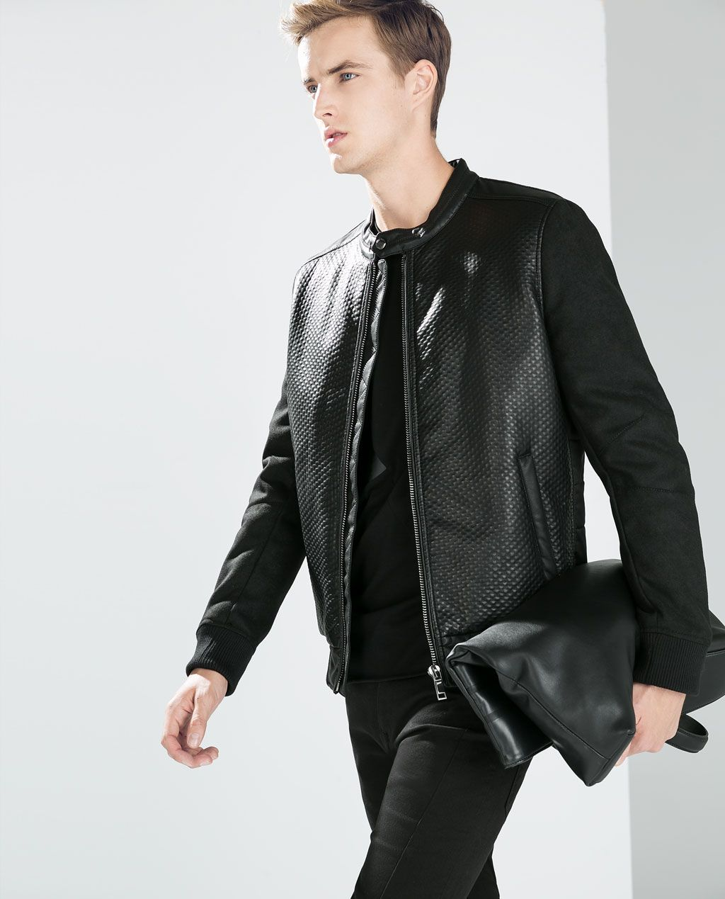 Image 1 of SYNTHETIC LEATHER JACKET from Zara (с