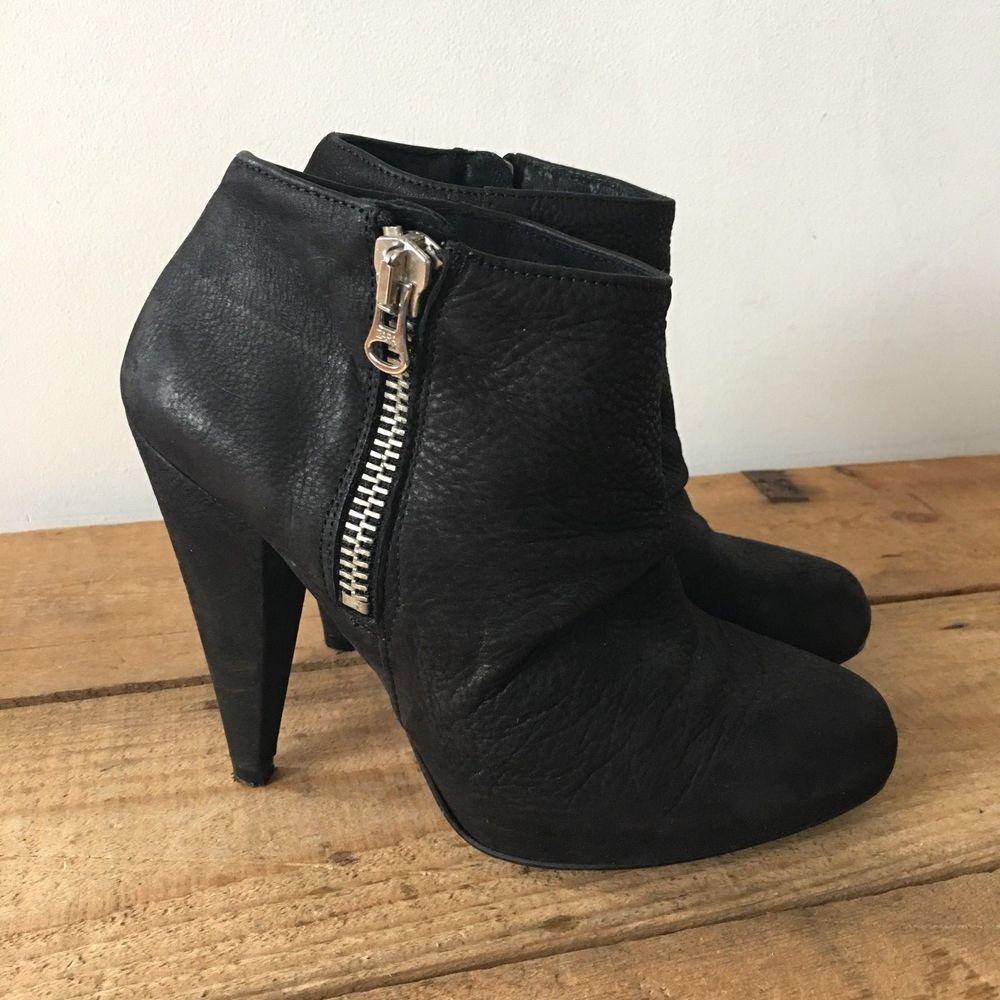 UK SIZE SIZE SIZE 5 Damenschuhe ALDO BLACK LEATHER ANKLE Stiefel PLATFORM CONE HEELS ... 36d1f5