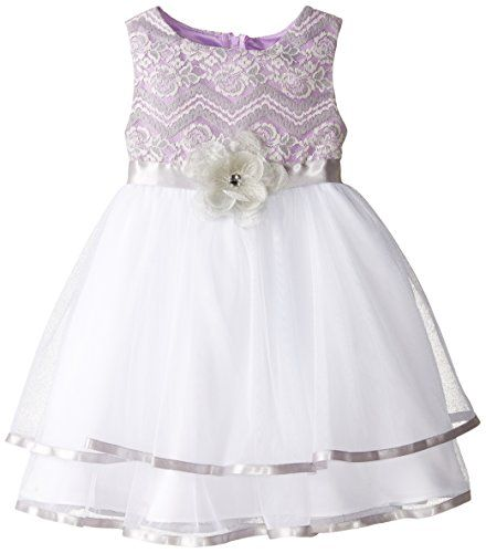 Rare Editions Little Girls Lace To Mesh Social Dress PurpleSilverWhite 646x >>> See this great product.