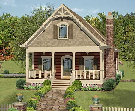 Plan 20079GA Narrow Lot Cottage with In-Law Suite Country, Guest