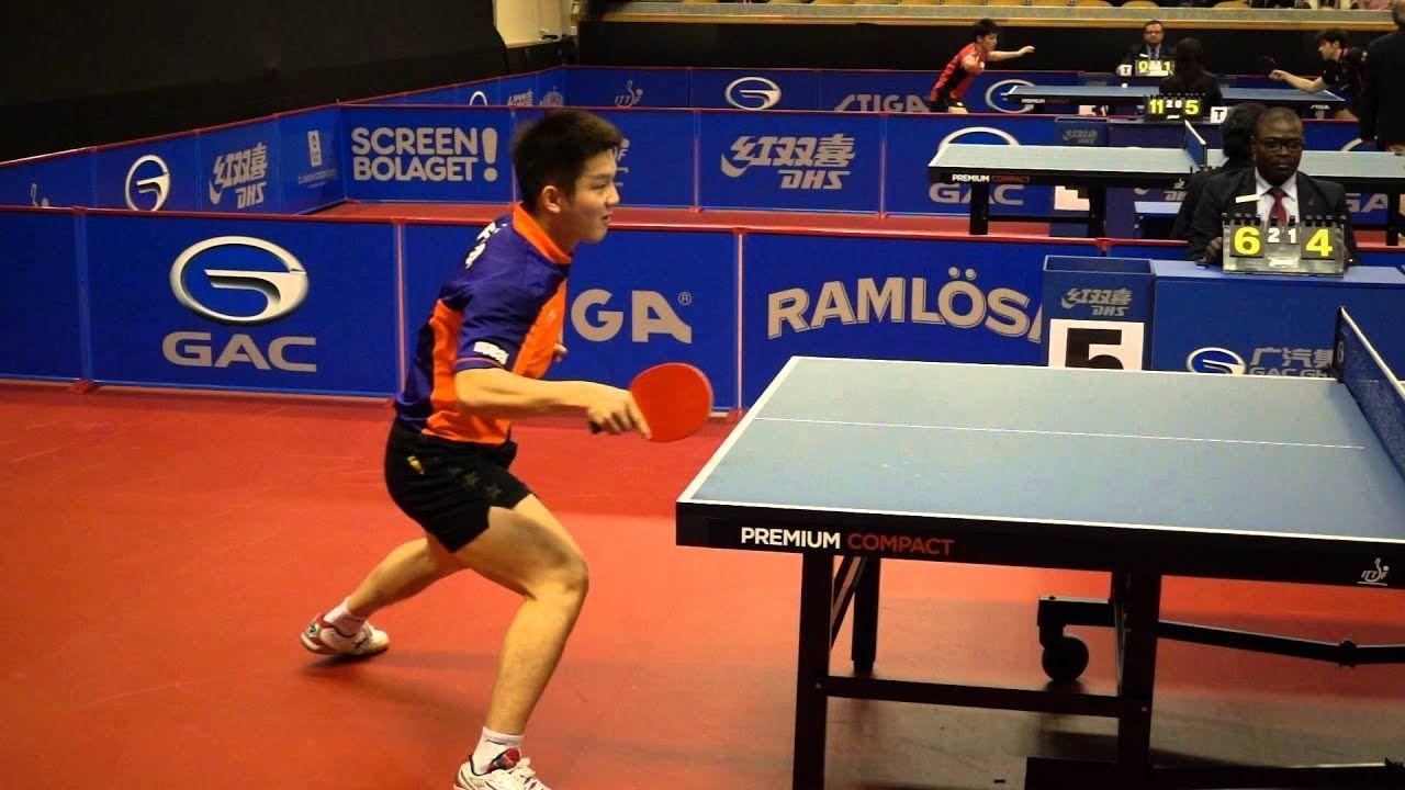Table Tennis In Slow Motion 240fps Fan Zhendong Forehand Loop Youtube Table Tennis Tennis Motion