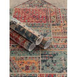 Photo of benuta Trends Flachgewebeteppich Stella Multicolor/Rot 120×170 cm – Vintage Teppich im Used-Lookbenu