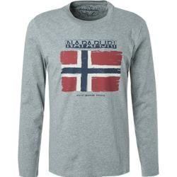 Photo of Napapijri camiseta de hombre de manga larga, algodón, rojo gris Napapijri