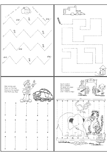 tracing lines beginning writing skills for use in pre school daycare school ideas. Black Bedroom Furniture Sets. Home Design Ideas