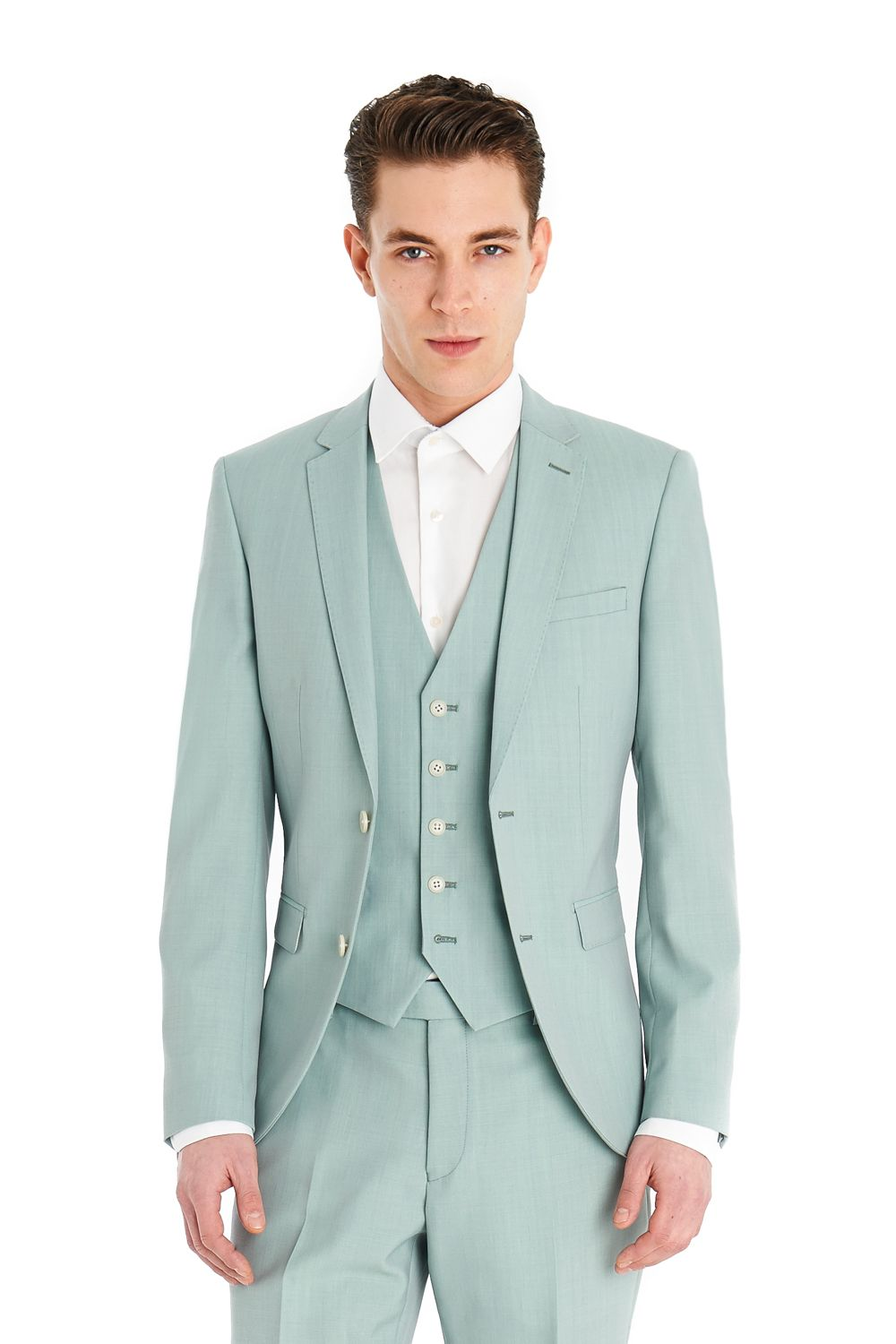Ventuno 21, single breasted slim fit suit with flat front trouser ...