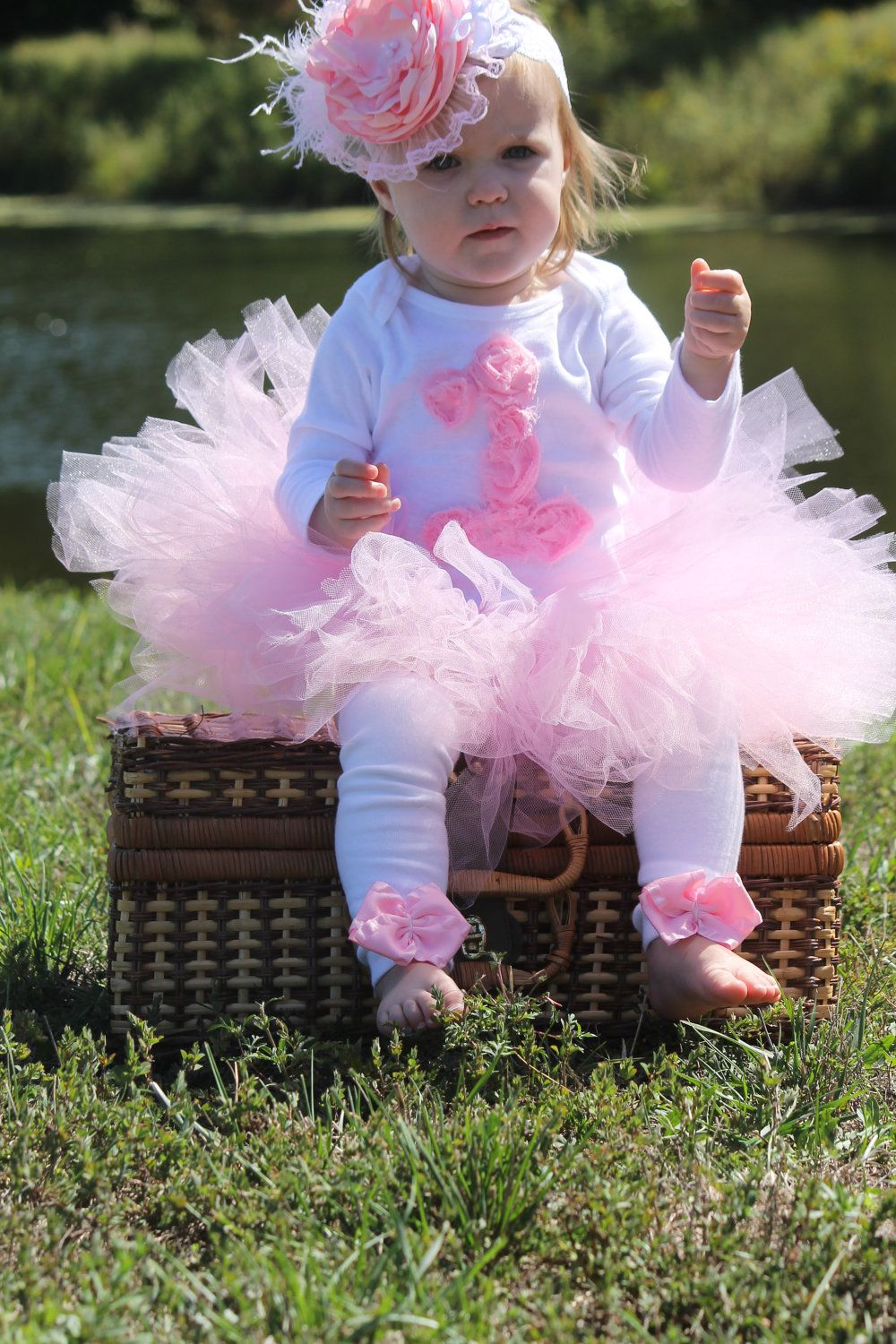 Adorable girls 1st 2nd 3rd birthday tutu outfit by