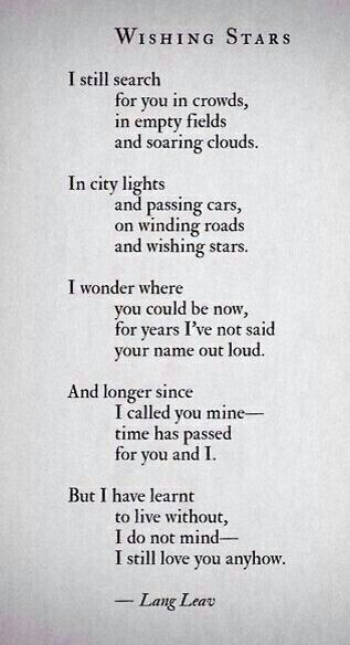 Time Has Passed For You And I Beautiful Lang Leav Poems Romantic Quotes Words Quotes